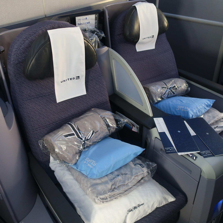 Polaris Business Class Seats - United 787  Photo: Calvin Wood