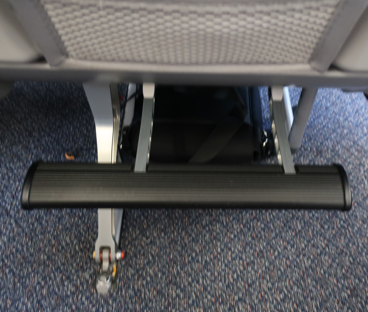 Footrest in  Premium Economy  - Air Canada A330  Photo: Calvin Wood