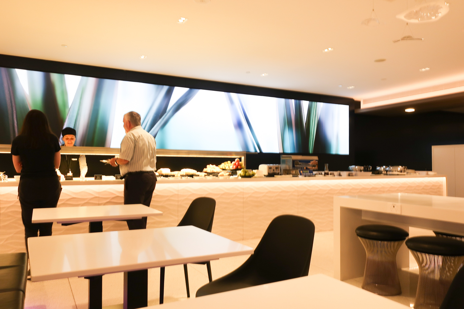 Food Stations- Air New Zealand Lounge - Melbourne  Photo: Calvin Wood