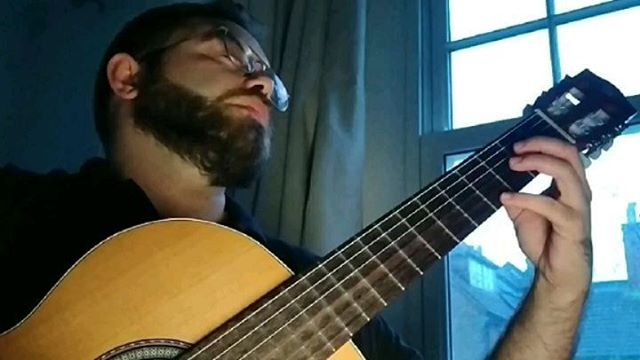 Lágrima/Tears in Heaven (arr. H. Sato)  The plan was to record it down in Brighton but British Spring can't be trusted.  Hope you like old man! 👨‍👦#11yearstoday  #music #guitar #musiciansofinstagram #londonlife #halftermtreat