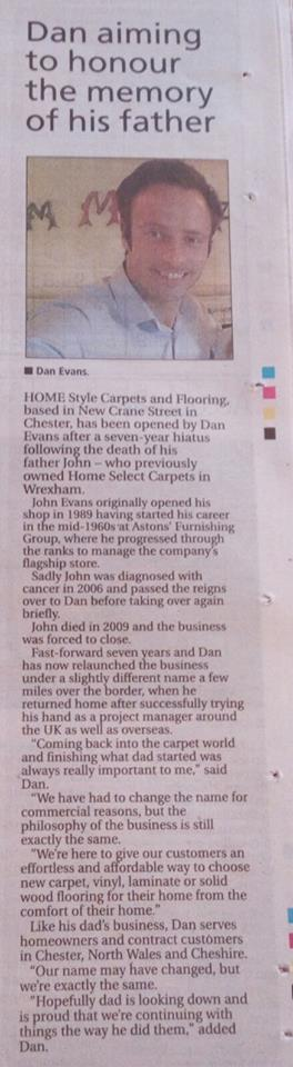 Our Press Release in The Wrexham Leader (October 2016)