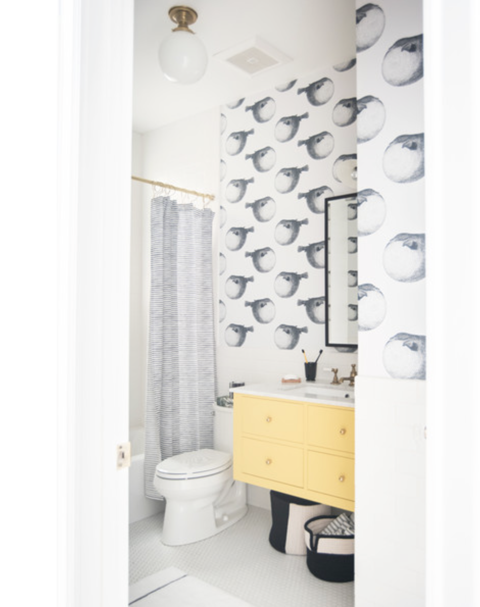 LONNY | 15 Ways to Make A Small Bathroom Pop with designer Katie Martinez