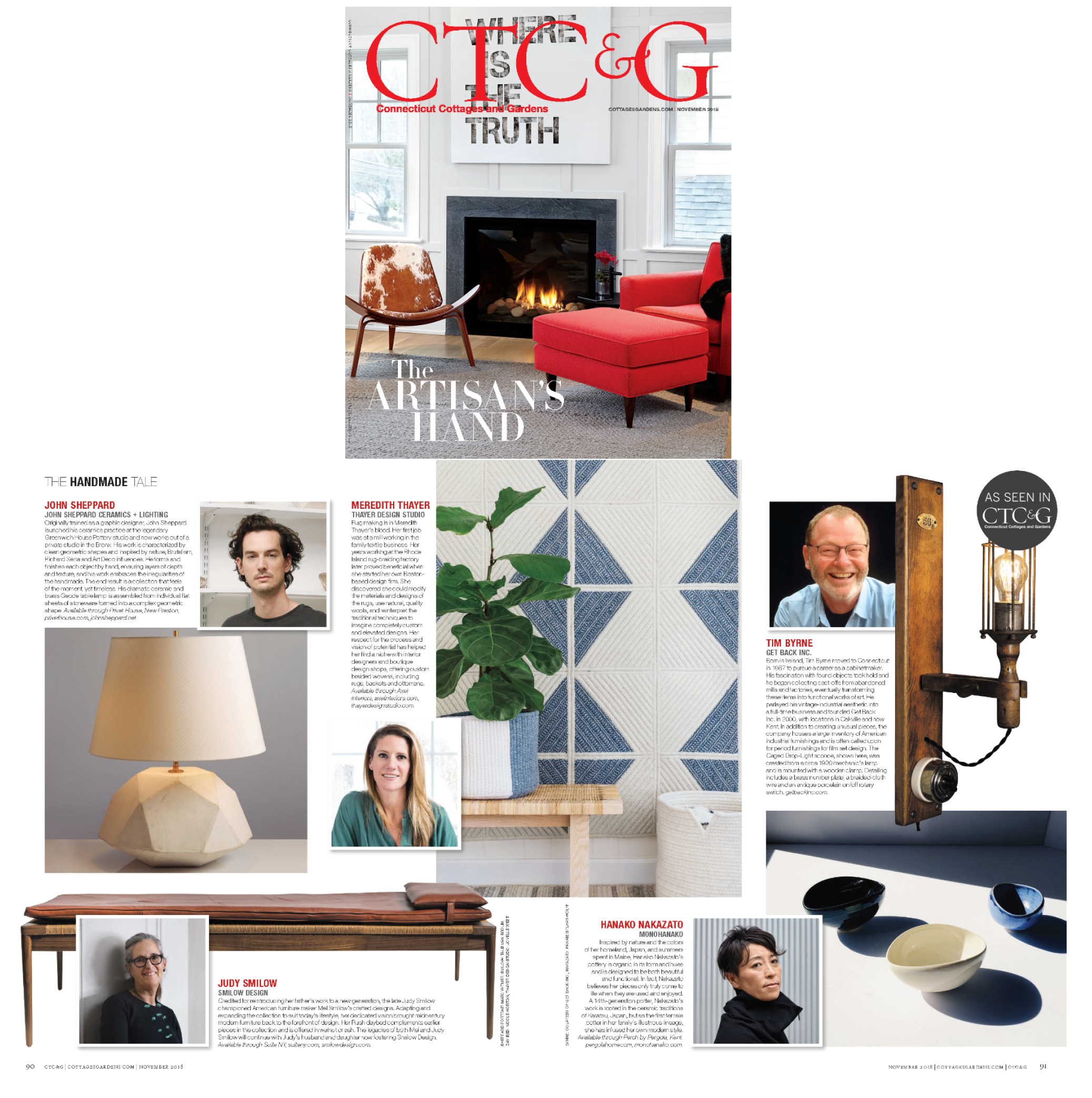 Connecticut Cottages & Gardens | Nov 2018