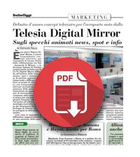 31 Gennaio 2019  Telesia Digital Mirror a Linate