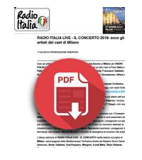 27 Maggio 2019  Telesia è media partner di Radio Italia Live - Il Concerto