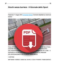 12 Giugno 2019  Telesia è media partner di Giochi senza barriere 2019 per promuovere la pratica delle attività paralimpiche