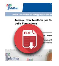 18 giugno 2019  Telesia con Telethon per festeggiare i 30 anni della Fondazione