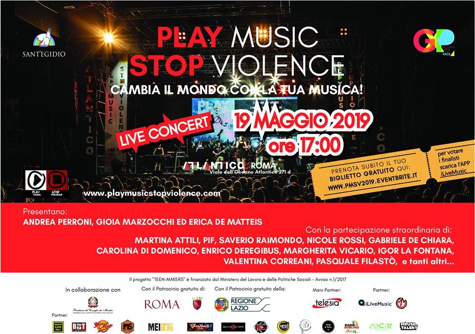 Play Music Stop Violence - 19 maggio