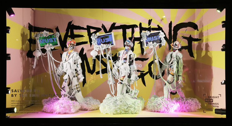 The EMG 'Everything Must Go' window at Selfridges