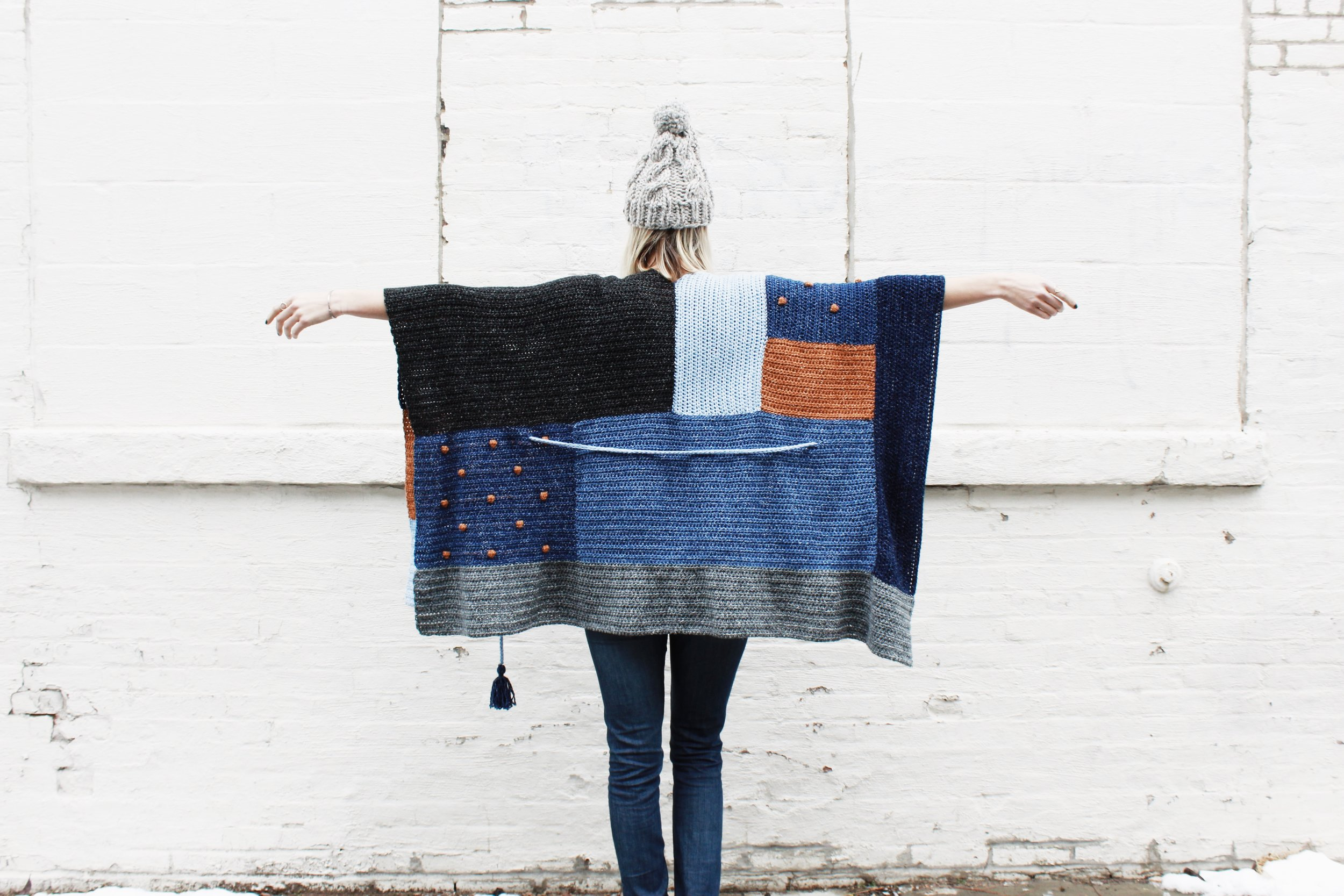 Shades of Indigo Poncho Pattern by Two of Wands