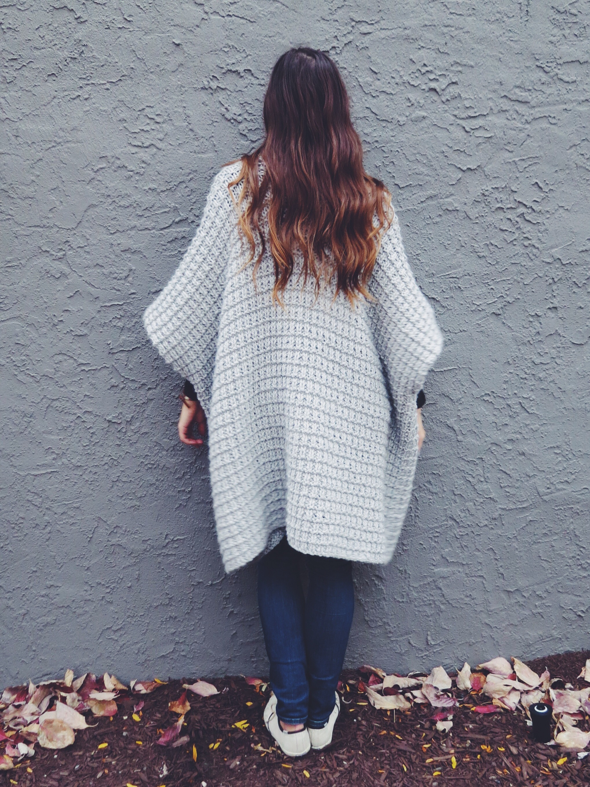 Cloaked in Clouds Poncho Pattern by Two of Wands