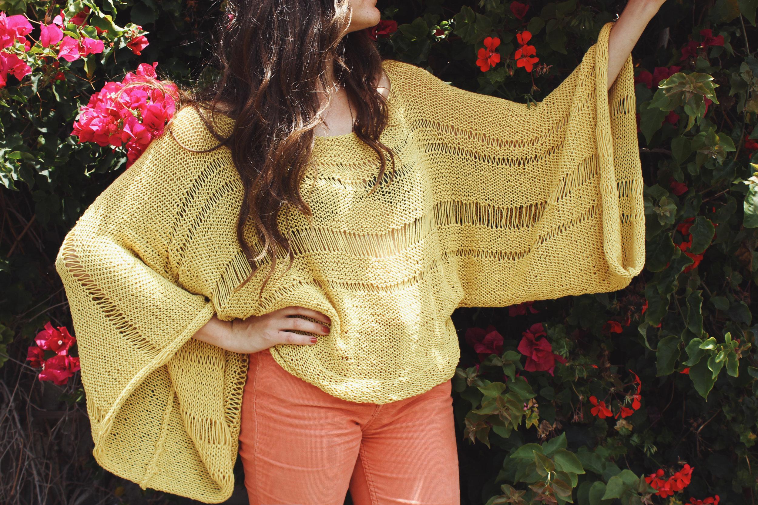 Lemon Drop Sweater Pattern by Two of Wands