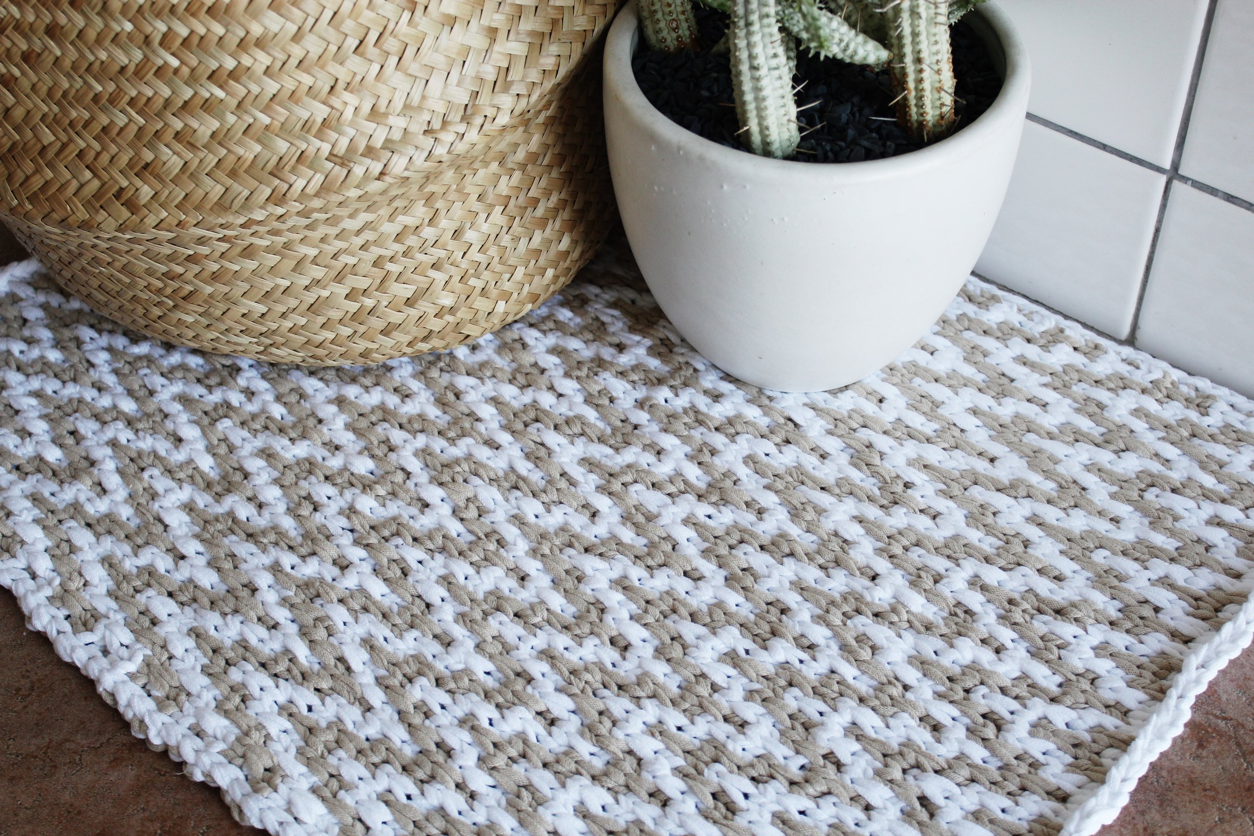 Chevron Waves Bath Mat Pattern by Two of Wands