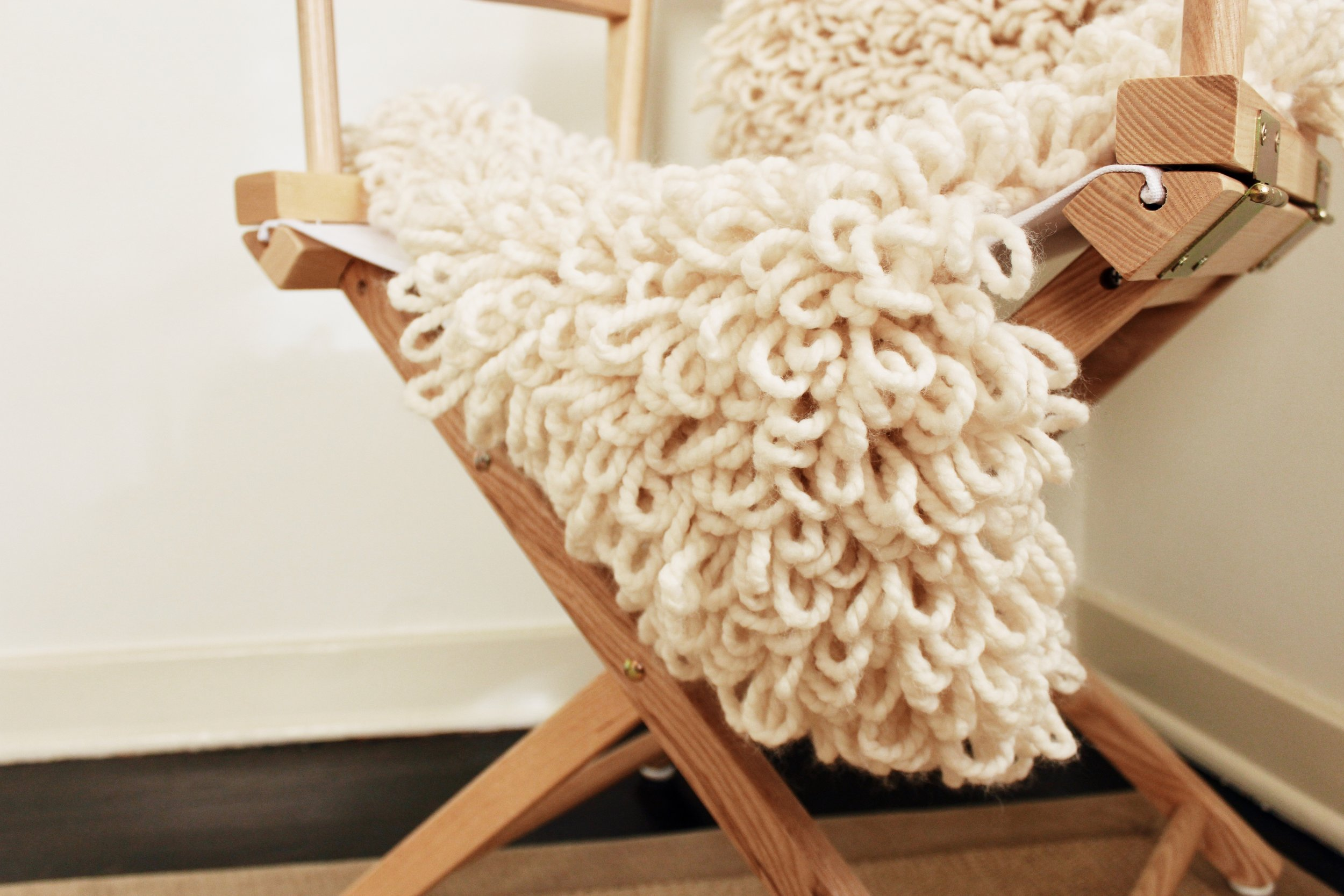 Sheepskin Chair Throw pattern by Two of Wands