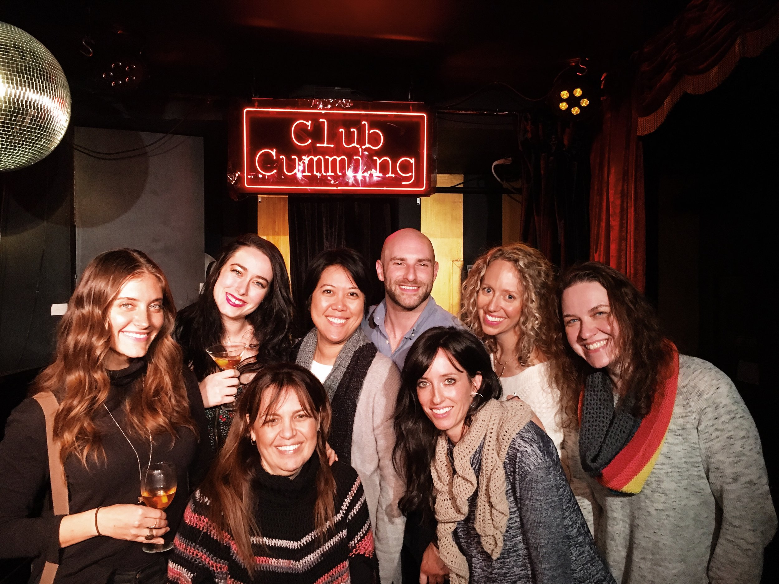 The ladies with  Josh Bennett .