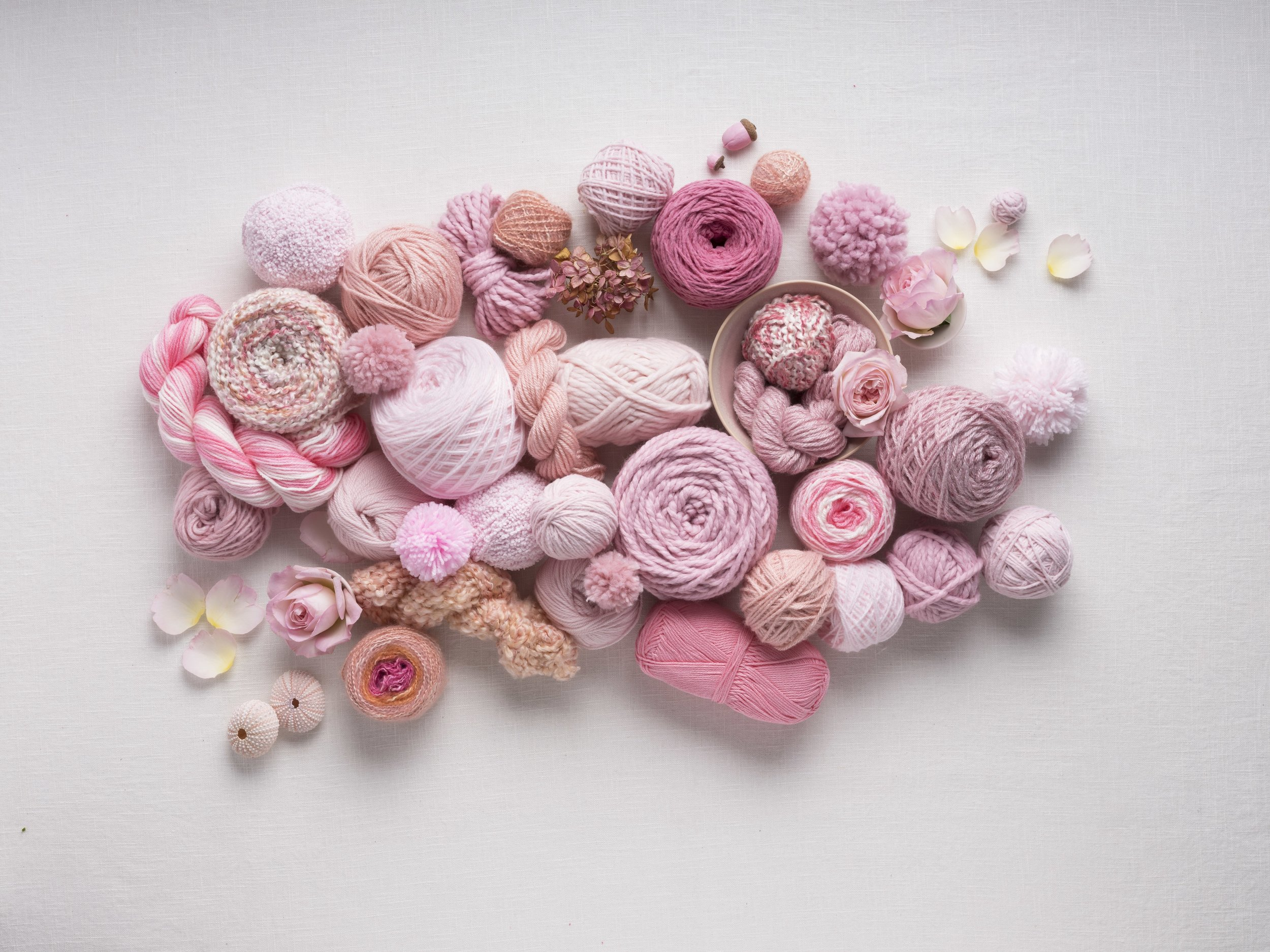 Antique colored yarns