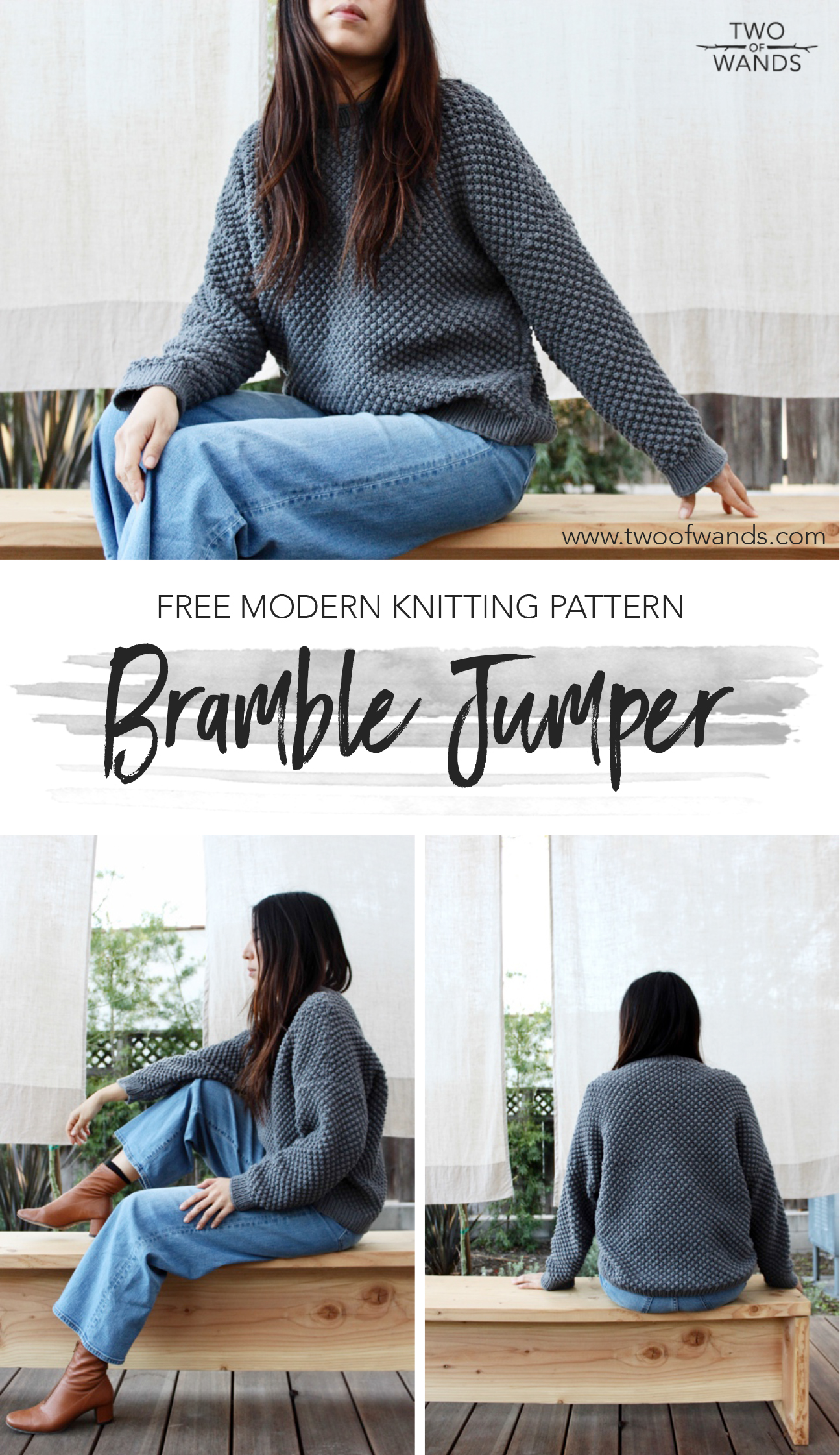Bramble Jumper pattern by Two of Wands