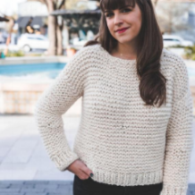 Simple Knit Sweater by Sewrella