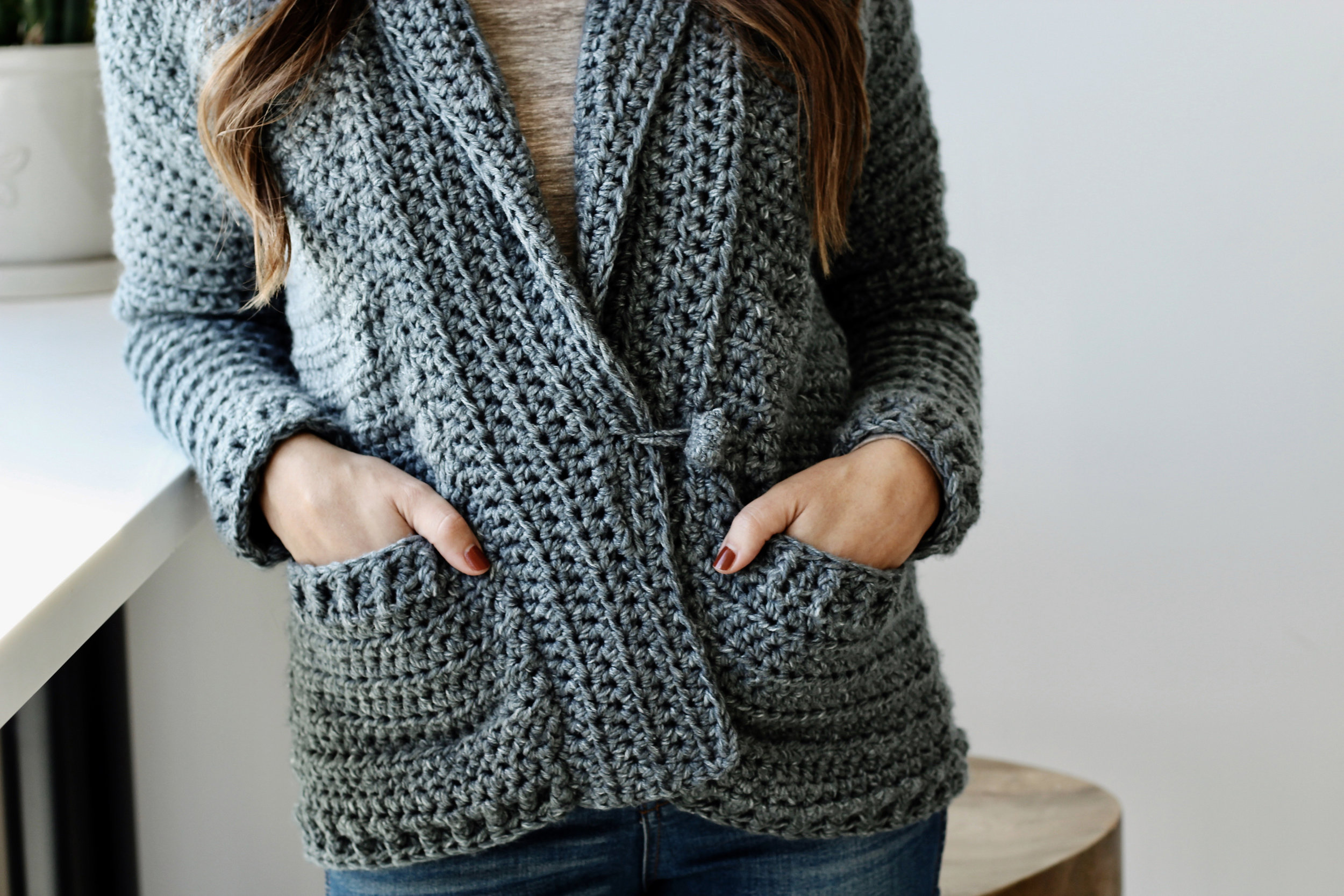 Harold Cardigan pattern by Two of Wands
