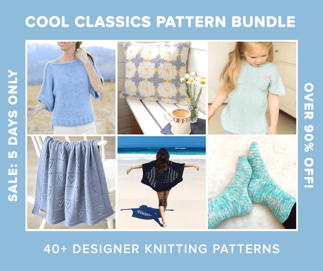 Cool Classics Knitting Pattern Bundle Sale