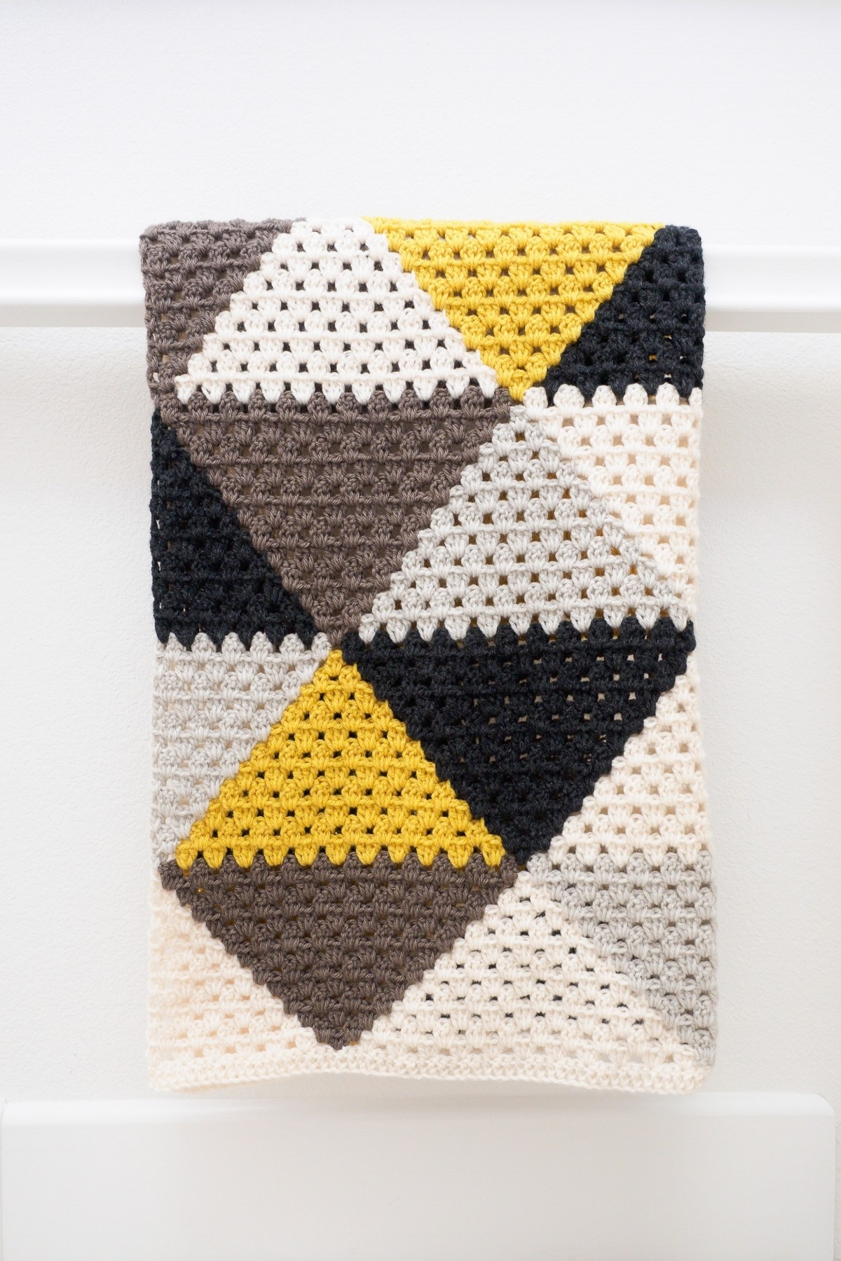 Love Triangles Afghan by One Dog Woof