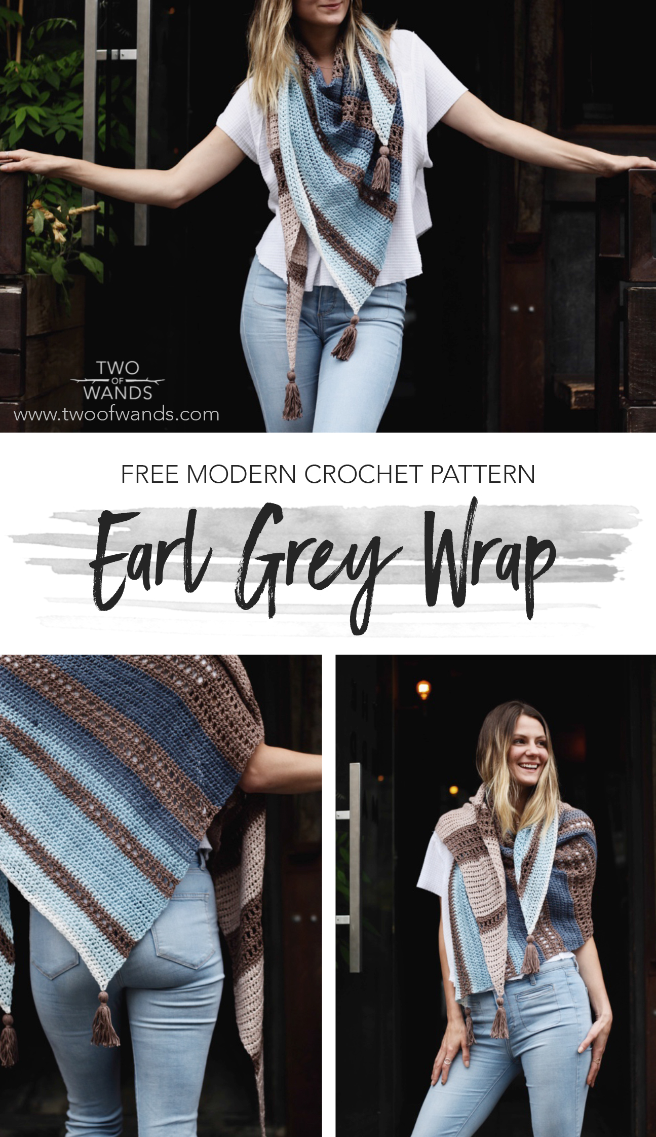 Earl Grey Wrap pattern by Two of Wands
