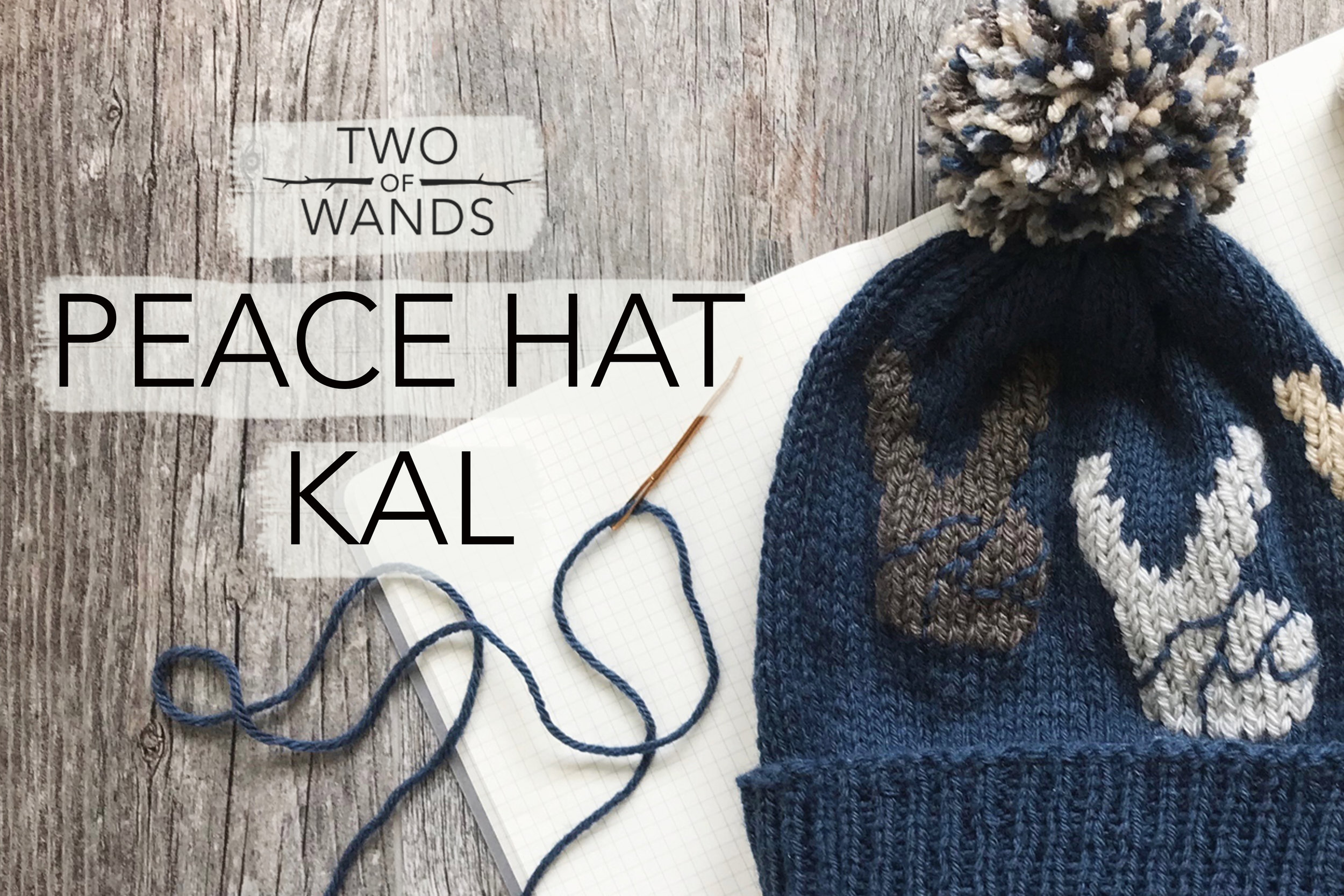 Peace Hat KAL by Two of Wands