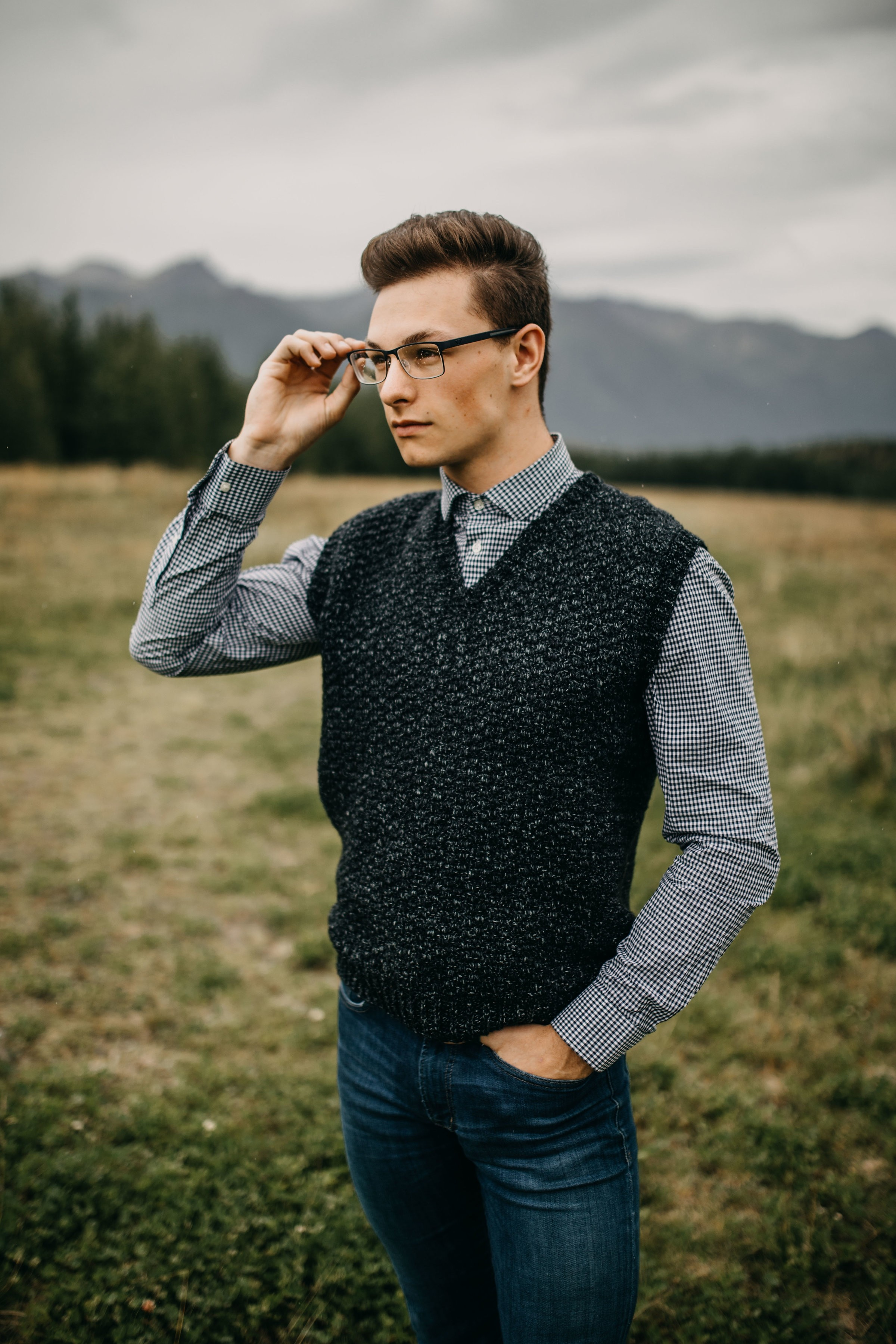 Summit Men's Sweater Vest by A Crocheted Simplicity