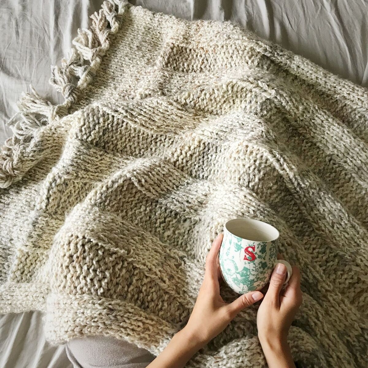 Simple Chunky Ribbed Blanket by All About Ami