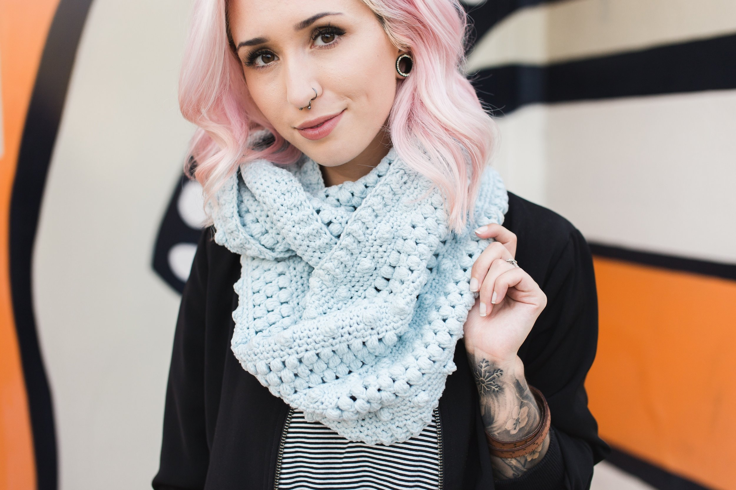 Dottie Infinity Scarf by the Hook Nook