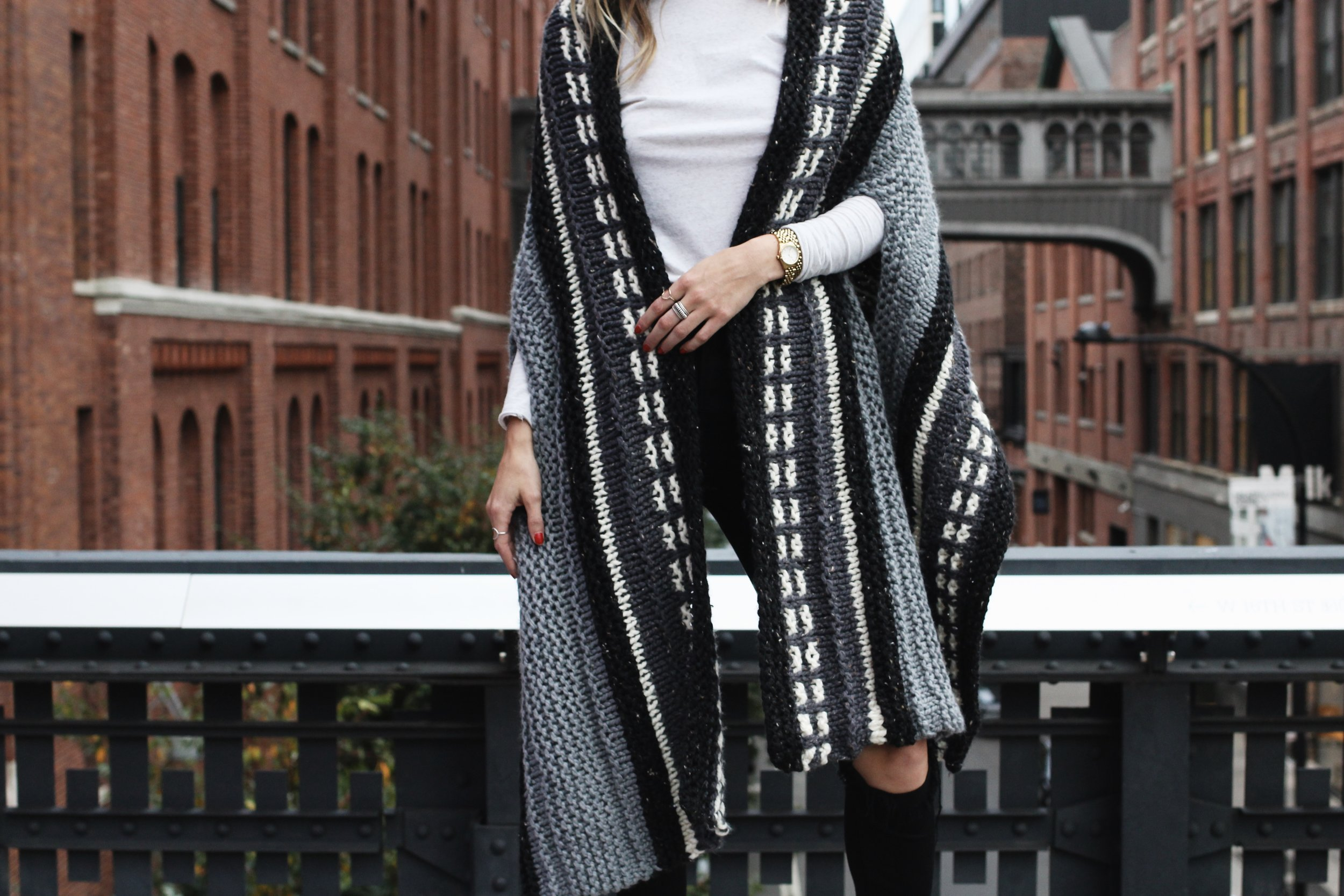 Alphabet City Cape Scarf Pattern by Two of Wands