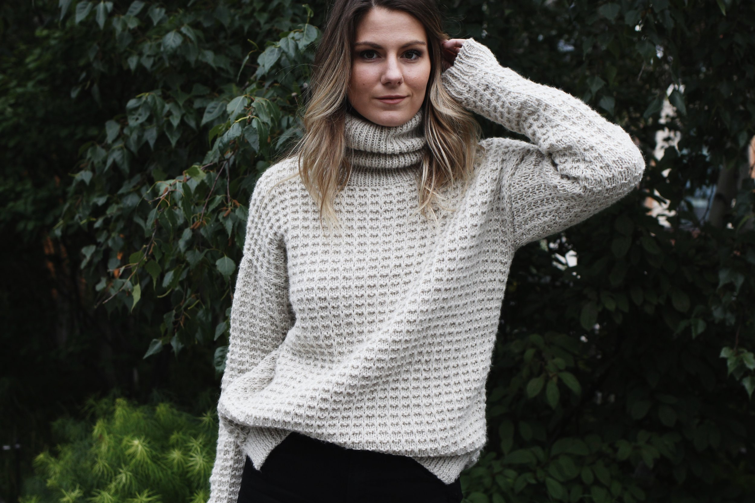 Evening in the Village Turtleneck Pattern by Two of Wands