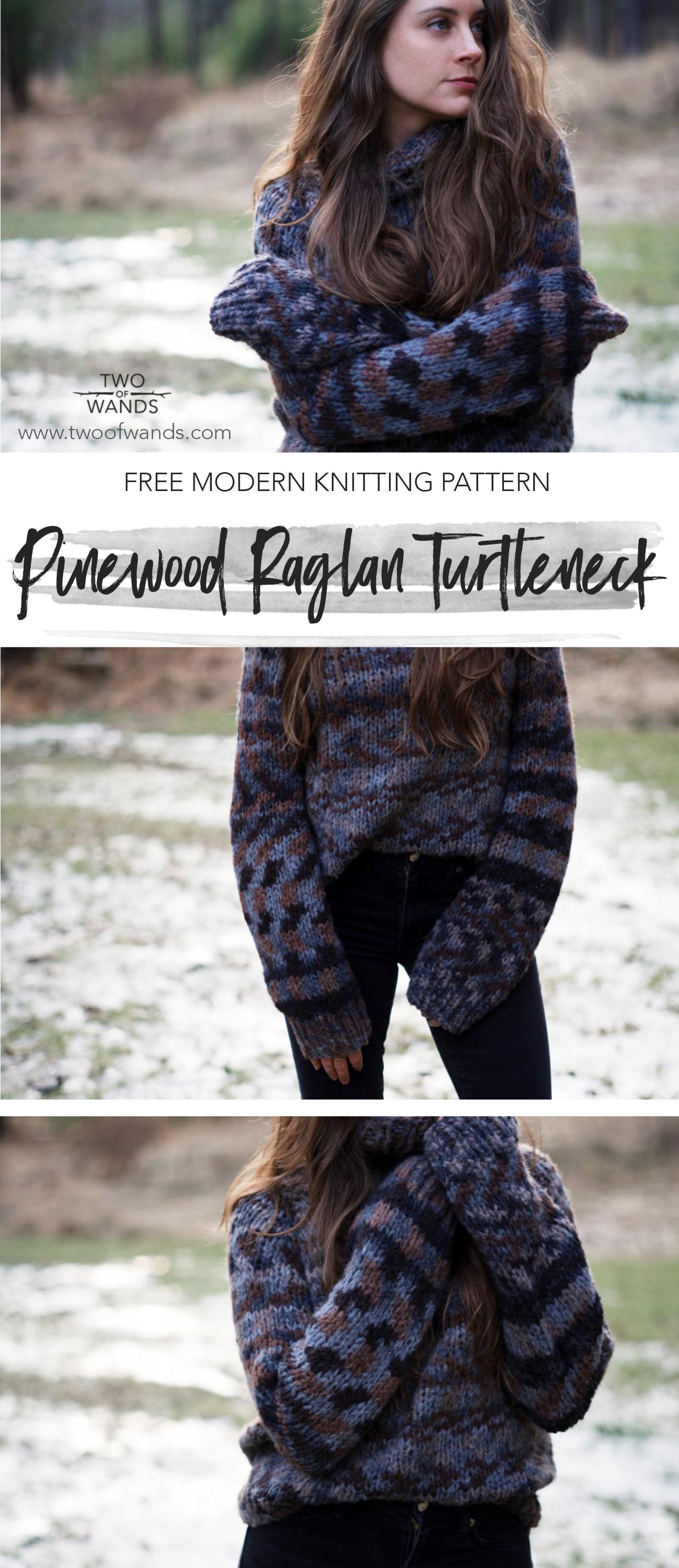 Pinewood Raglan Turtleneck pattern by Two of Wands
