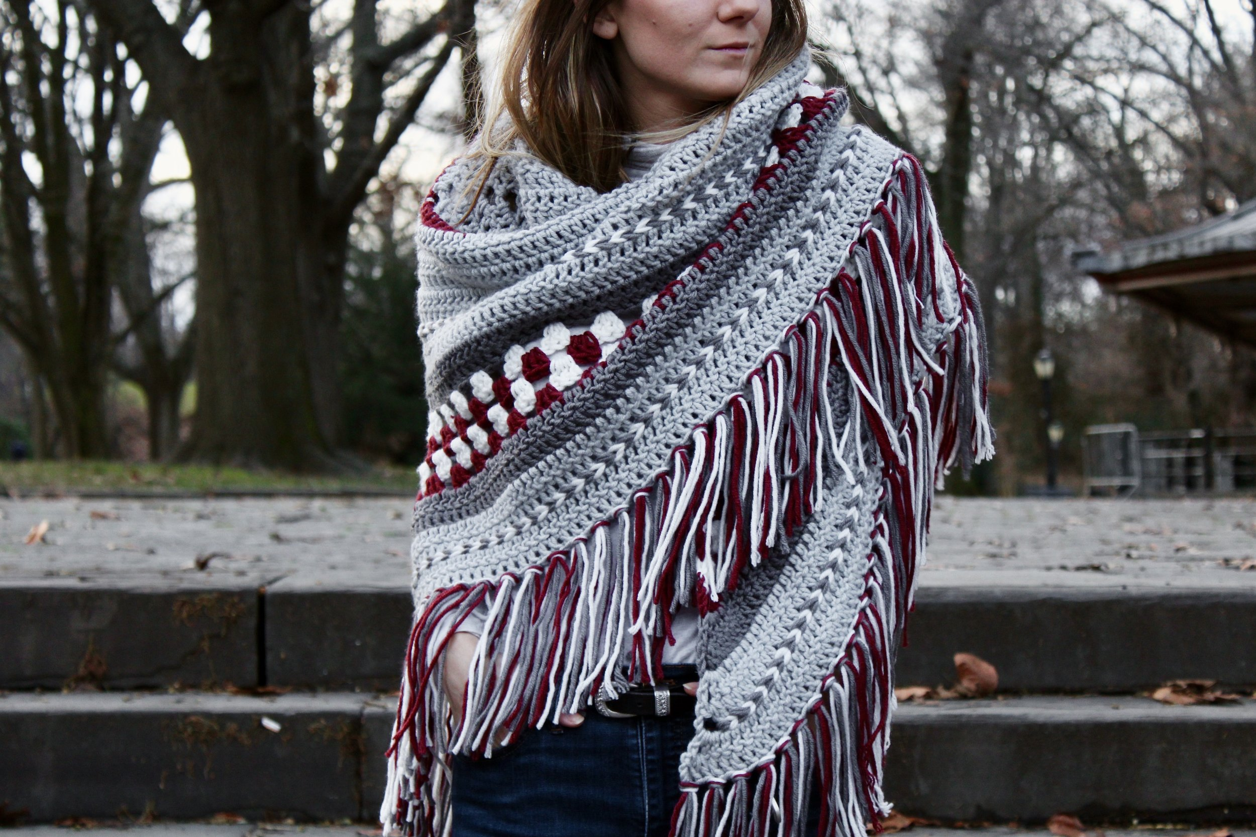 Fireside Wrap pattern by Two of Wands