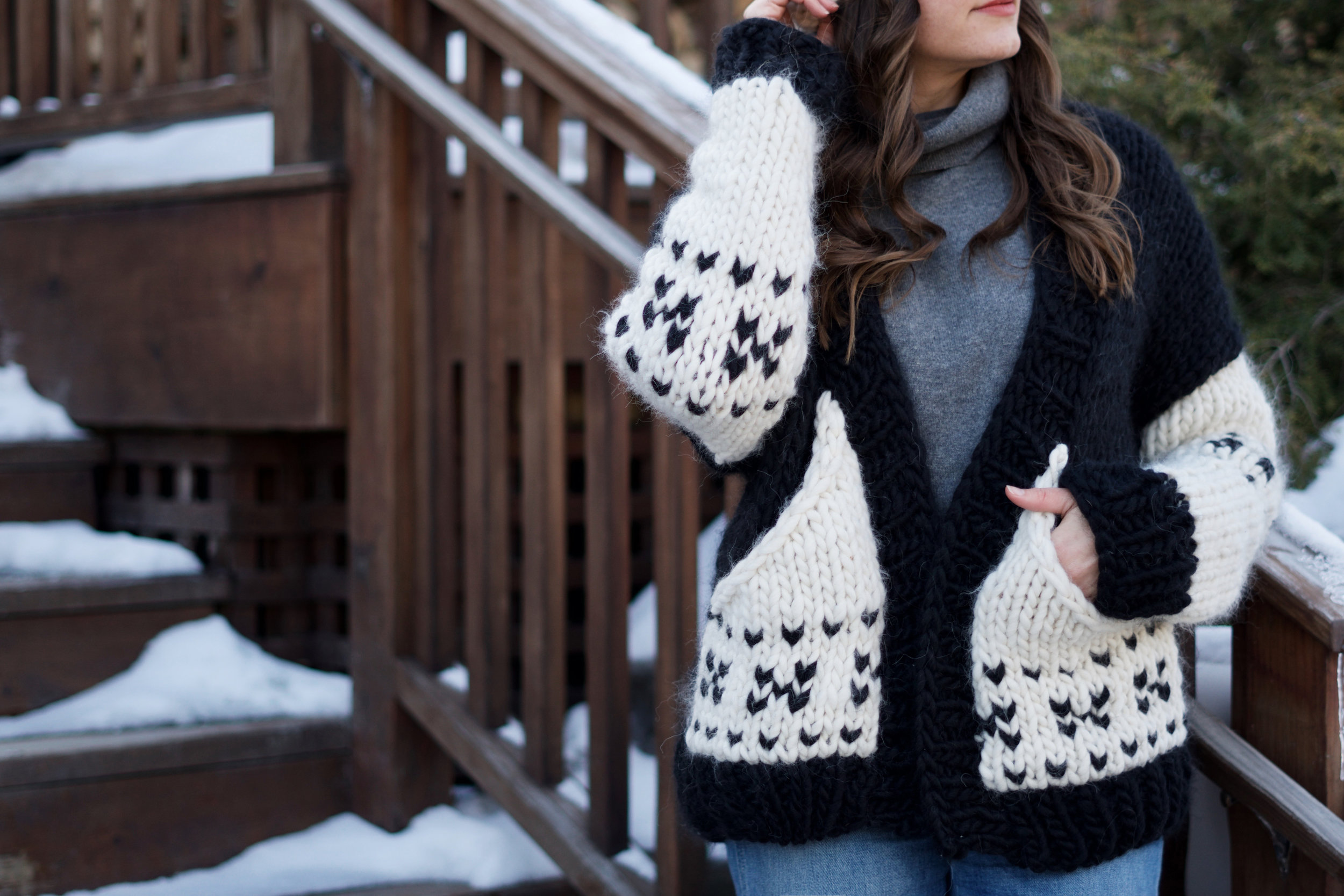 Avalanche Sweater Coat pattern by Two of Wands
