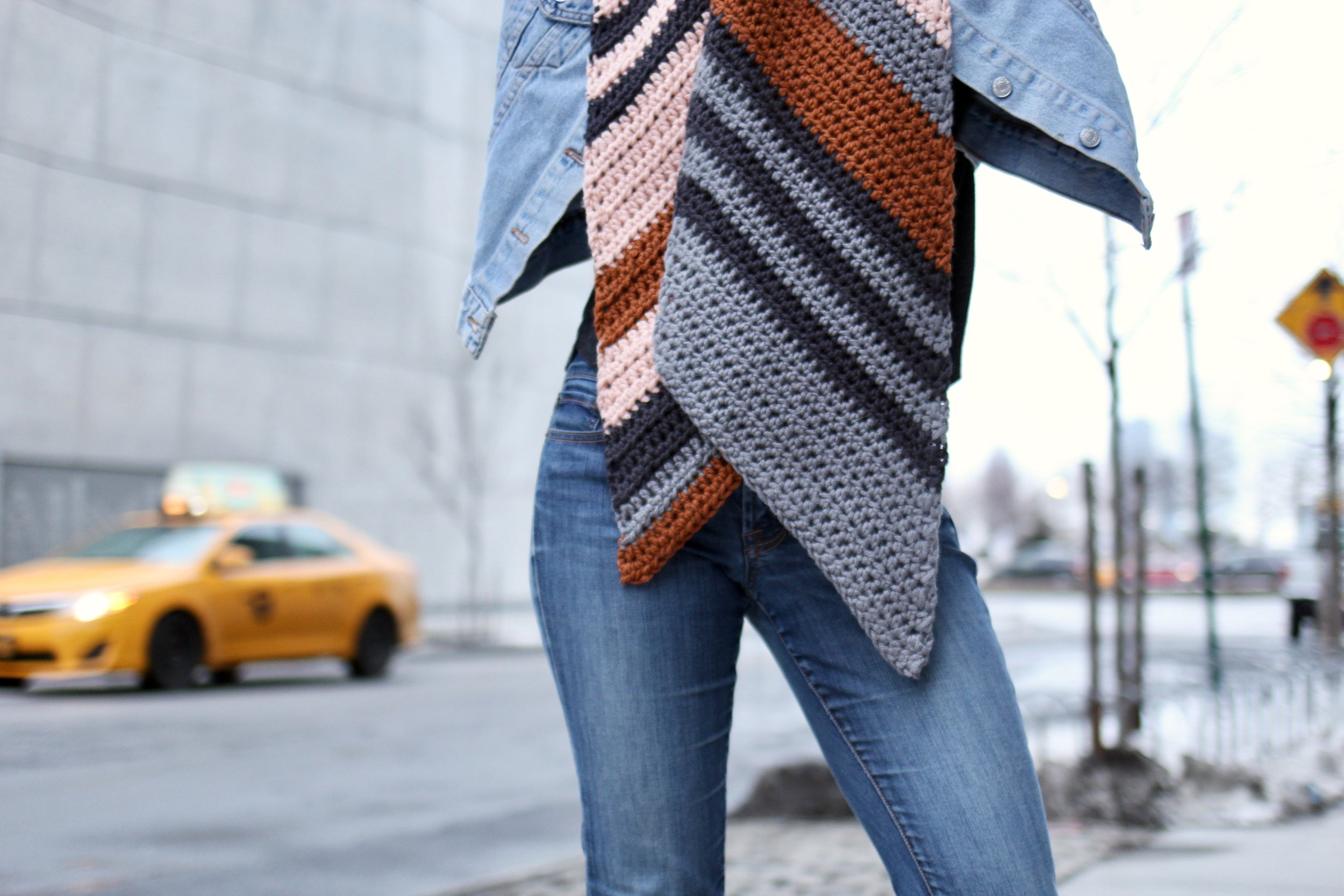 Sunset Bias Scarf pattern by Two of Wands
