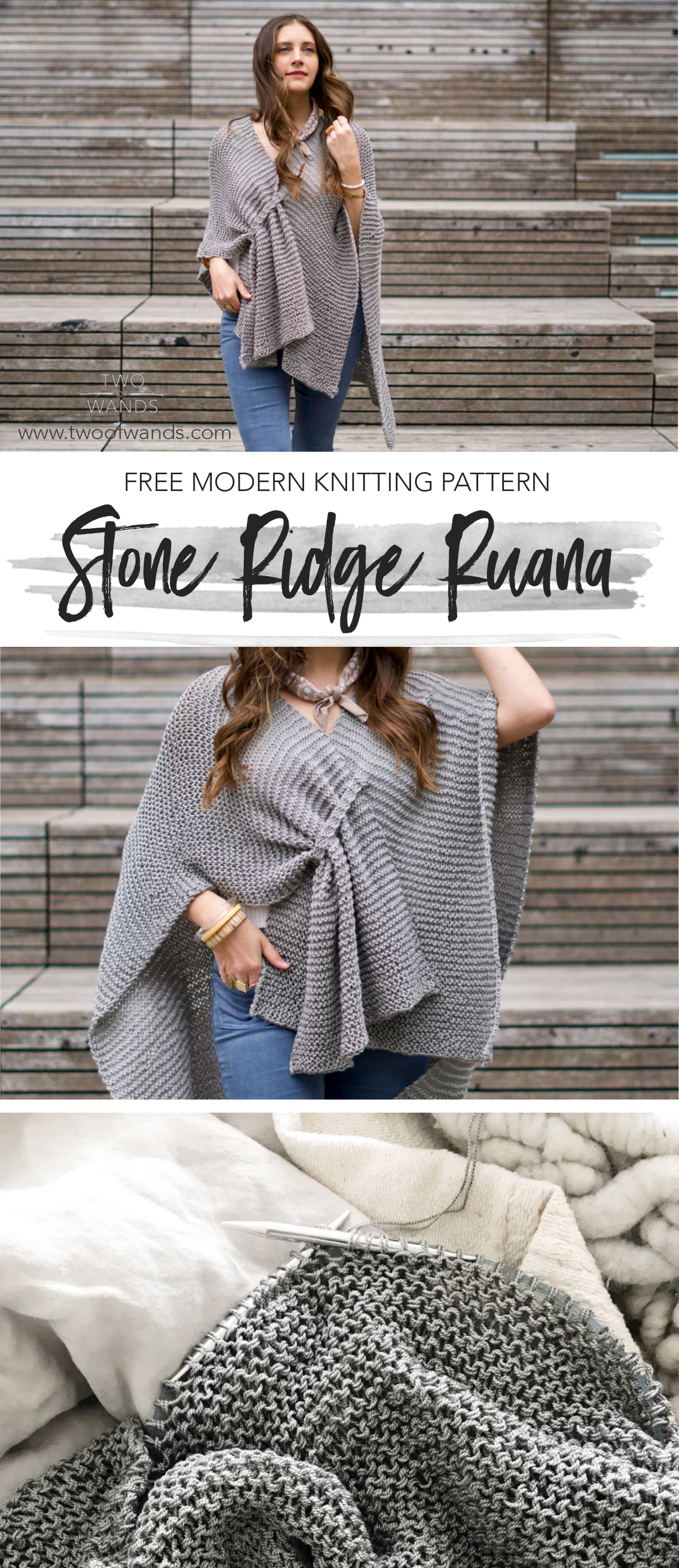 Stone Ridge Ruana pattern by Two of Wands