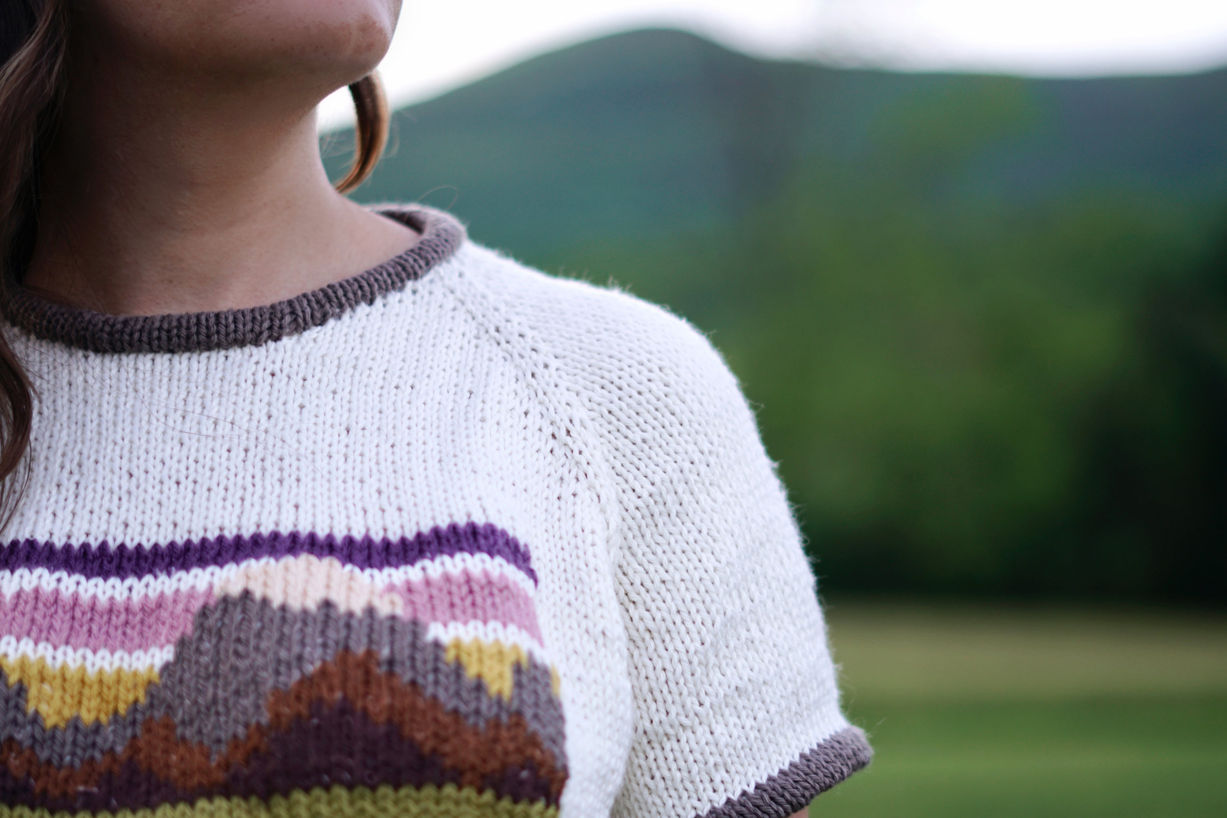Mountain Ringer Tee pattern by Two of Wands