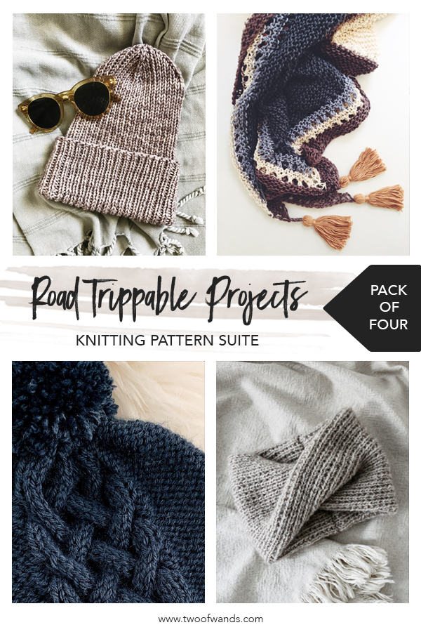 Road Trippable Projects Knitting Pattern Suite