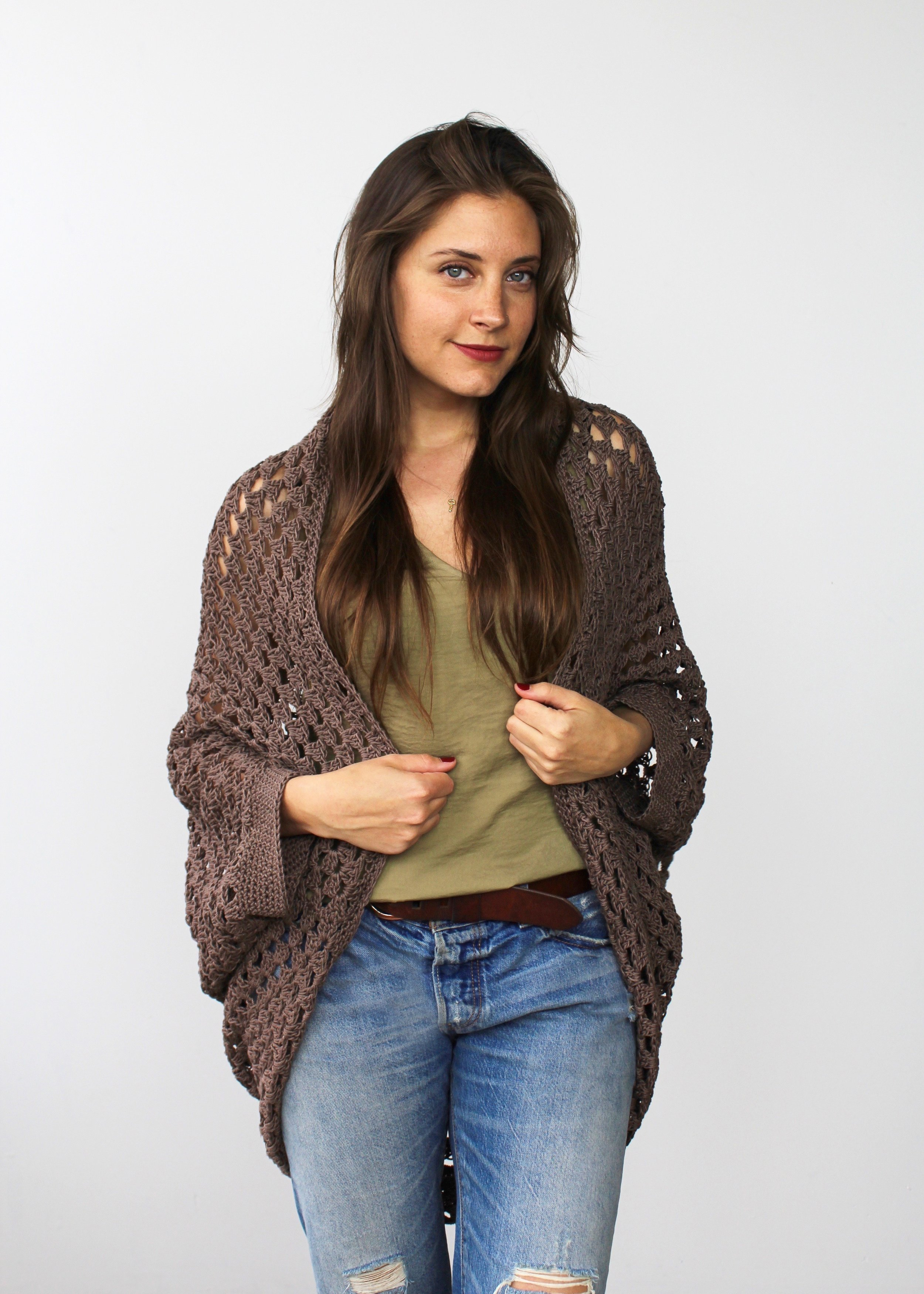 Movie Night Cocoon Cardi front
