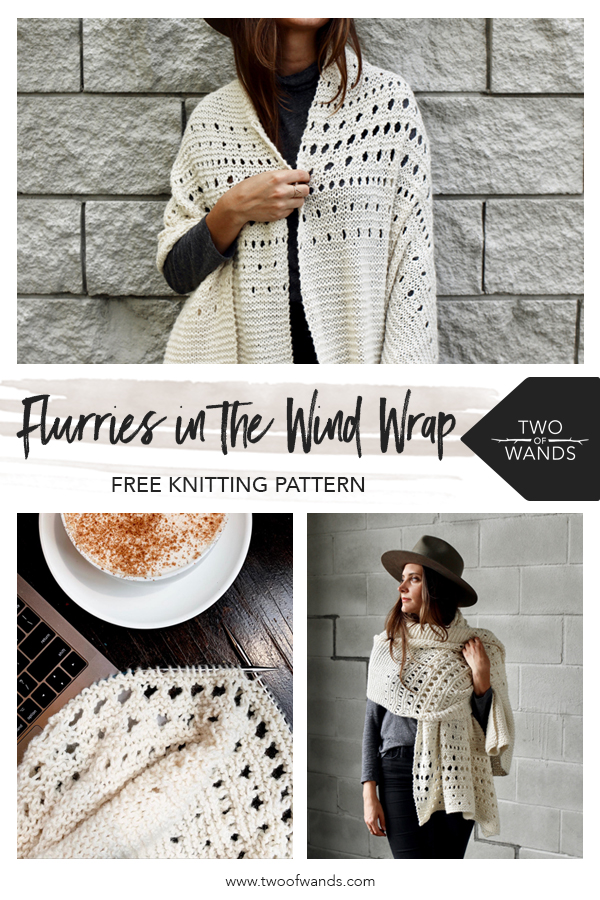 Flurries in the Wind Wrap — Two of Wands