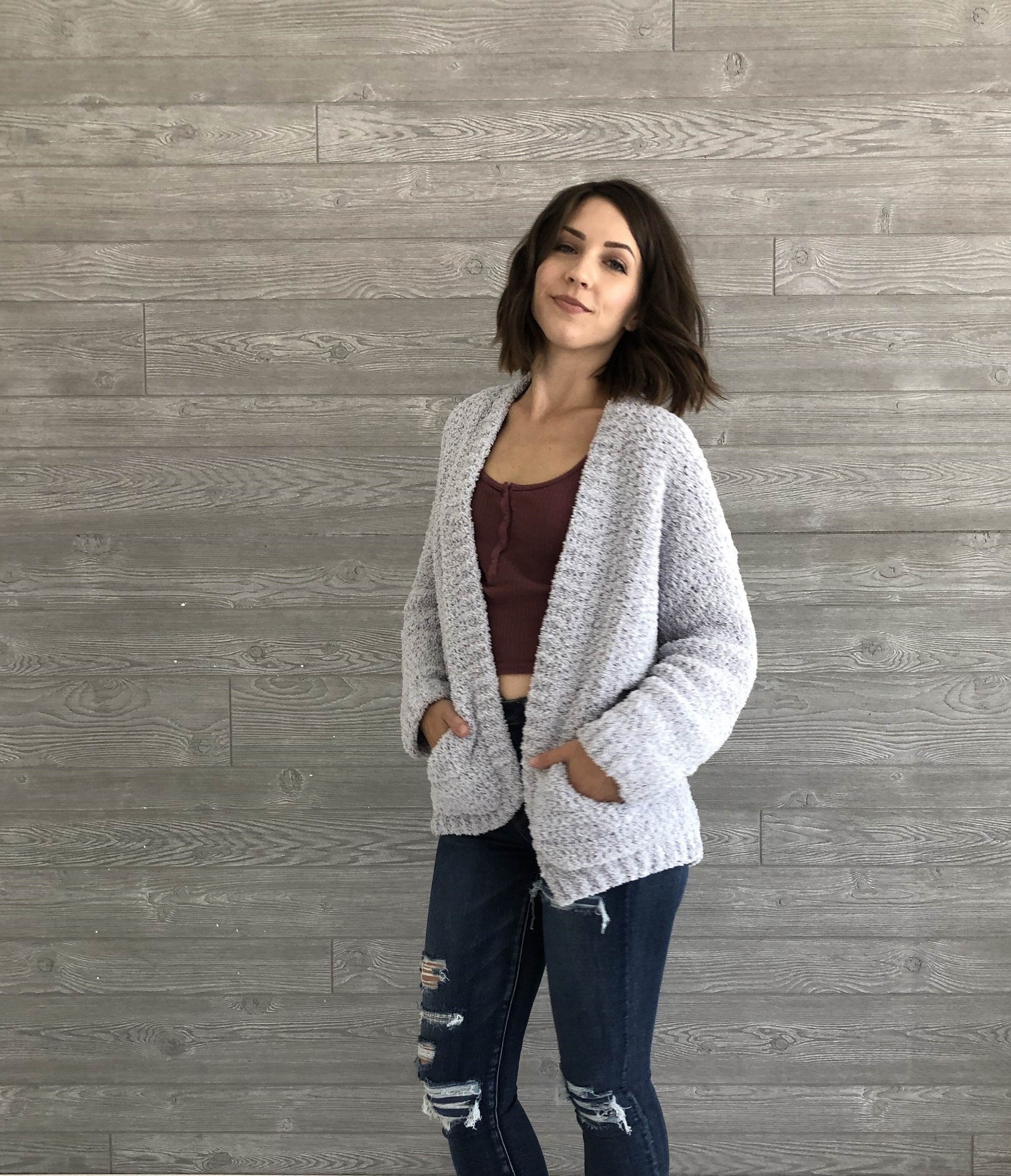 Cozy Boyfriend Cardigan by Evelyn and Peter