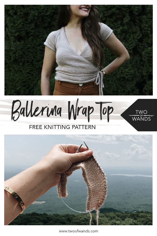 Ballerina Wrap Top pattern by Two of Wands