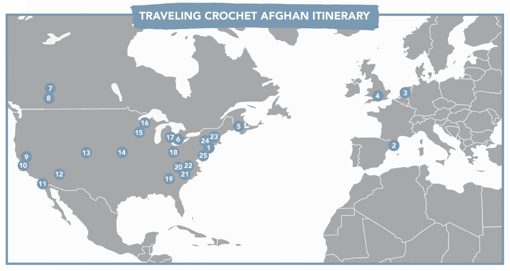 Traveling Crochet Afghan Itinerary