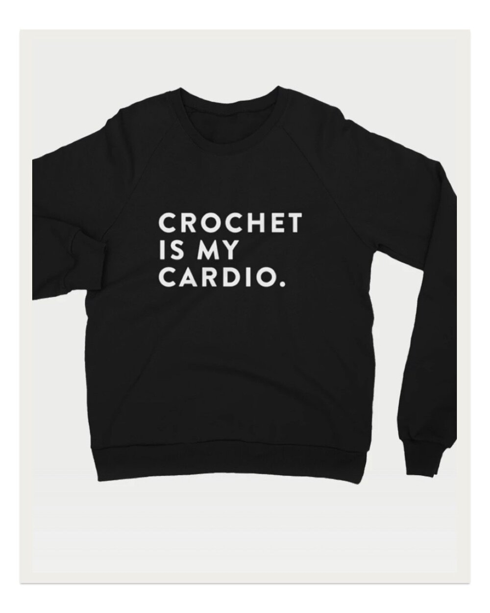 Funny because it's true! I love this cozy sweatshirt by Debrosse for days at home stitching on the couch, or for running errands / gym time if you want to put a smile on everyone's face :)