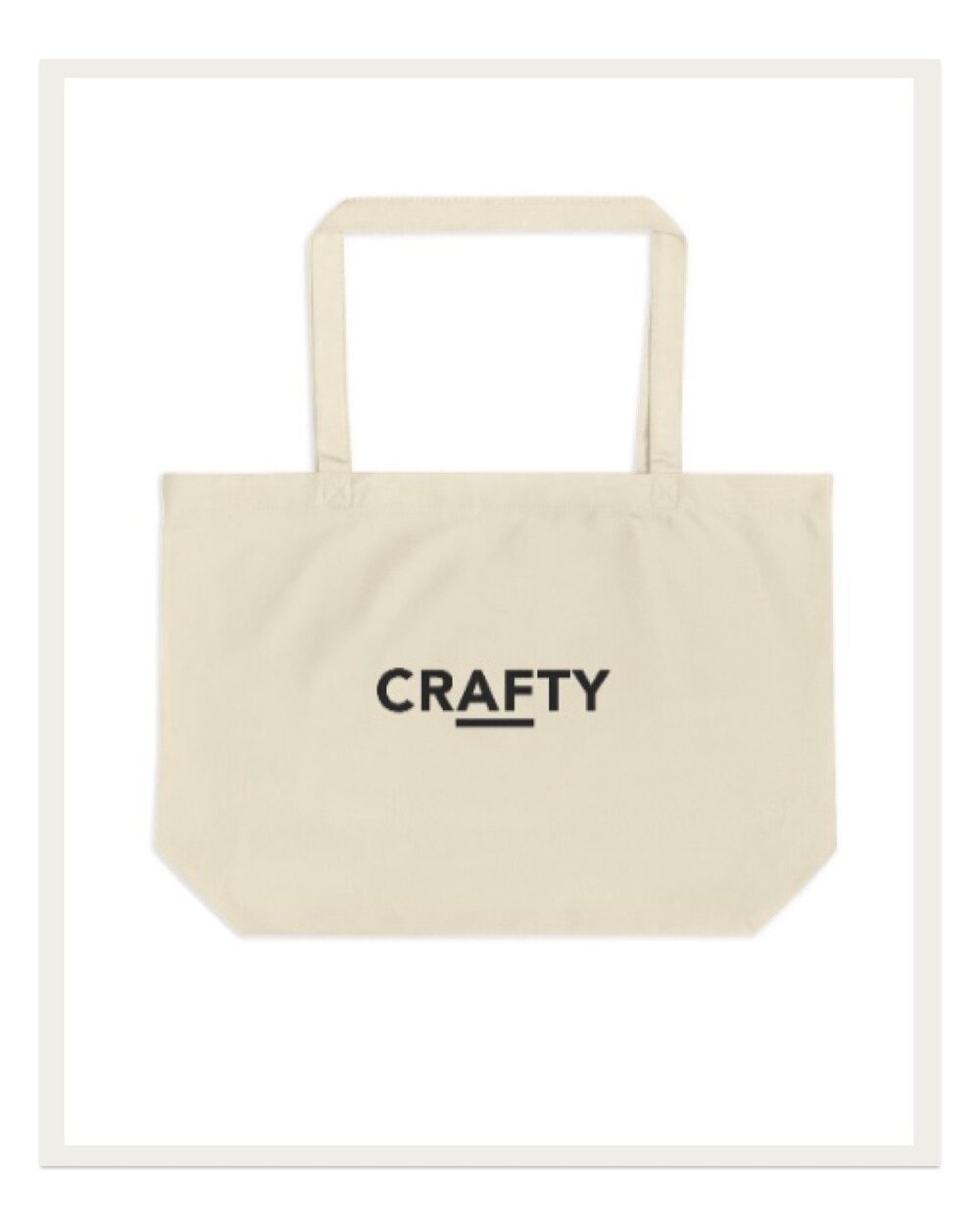 Make a statement with the Crafty AF oversized tote from the Two of Wands maker merch line. I love the oversized silhouette of this tote to easily take my project on the go.