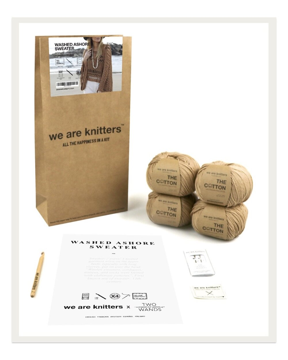 If you're looking for a truly special yarn kit, We Are Knitters is a top choice. The beautiful packaging and thoughtful details make this a lovely gift with high end yarn and modern designs.