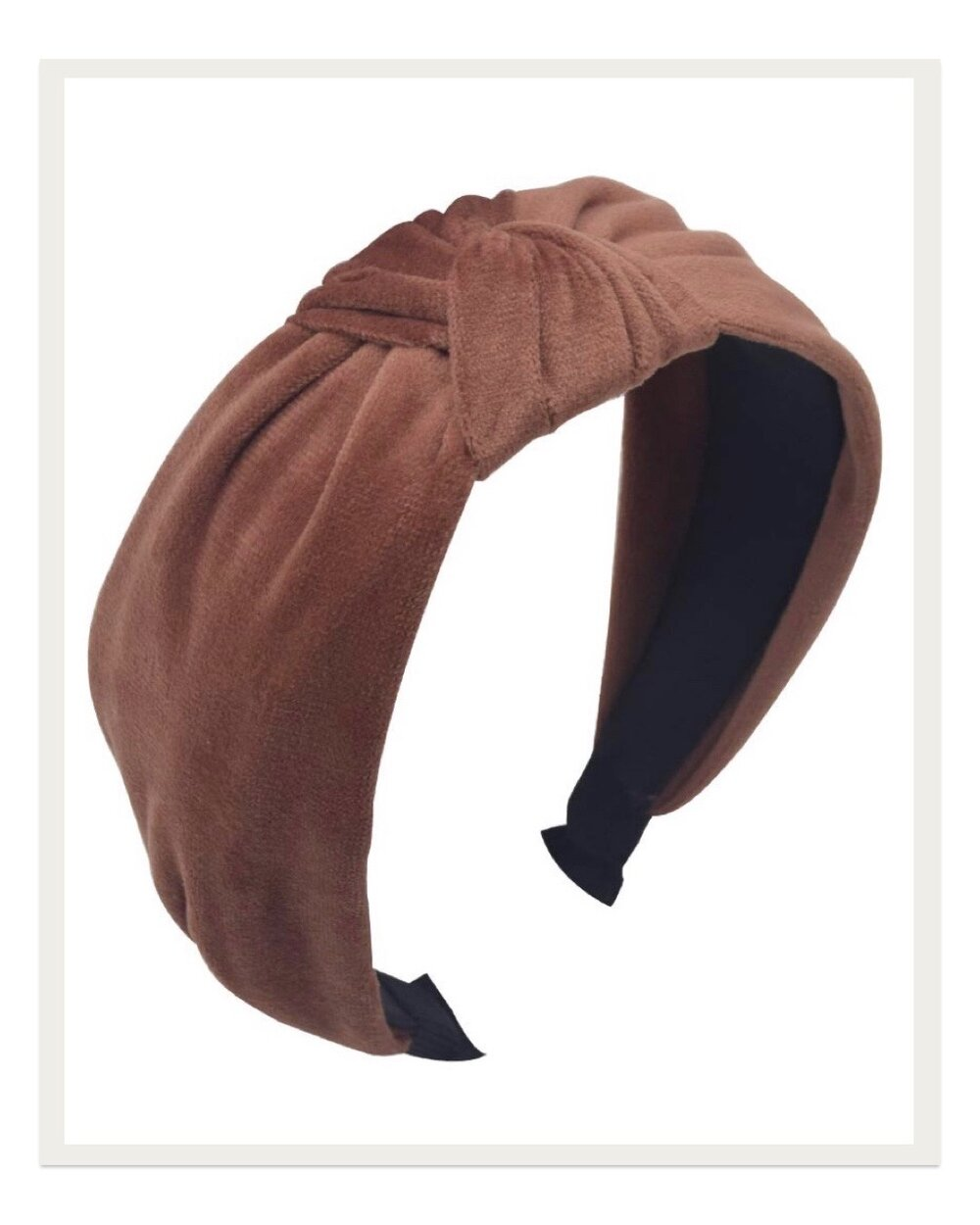 I'm in love with this velvety knot headband too! It looks so luxe and because it's a little more low key than the shiny options above, I can pair it with virtually any outfit to pull it together into something more sophisticated. I am so into this blush/clay color lately and absolutely adore this accessory.