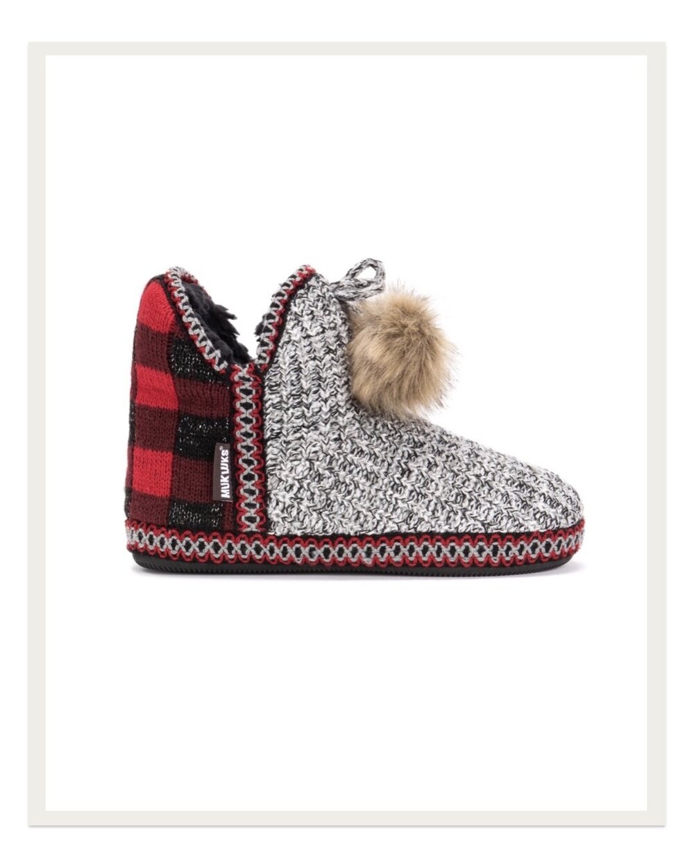 Mukluks seem to be part of the maker uniform these days, and I just love this pair with buffalo plaid heels and a cozy sweatshirt-vibe front. Putting these on my feet in the morning gets me right into the maker mood!