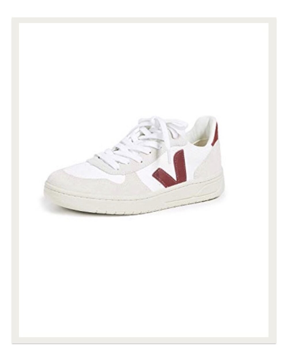 "A favorite amongst European ""it-girls,"" I've seen these Veja sneakers paired with everything from jeans to cocktail dresses, and they still look cool. I will admit they need need to be broken in, but I love throwing these on to run errands and feel super cute even though I'm in sneakers."